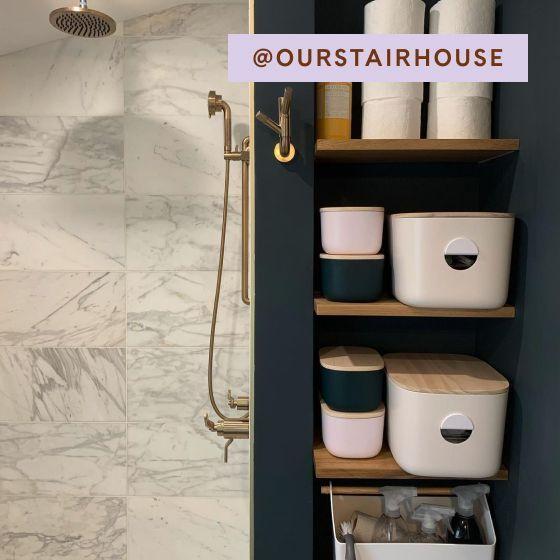 Image for UGC - @ourstairhouse - Medium Storage Bins - Cream