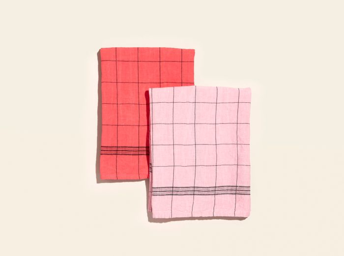 Image for Tea Towels - Set of 2 - Red / Pink
