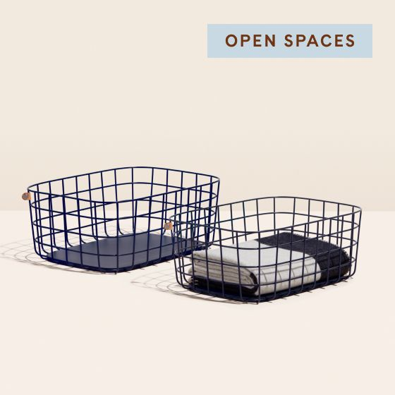 Image for Product Thumbnail - Large Wire Baskets - Navy
