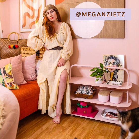 Image for [No Product Link] UGC - @meganzietz - Entryway Rack - Light Pink