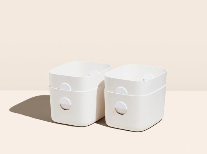 Image for Medium Storage Bins - Set of 4 - Cream / No Lids