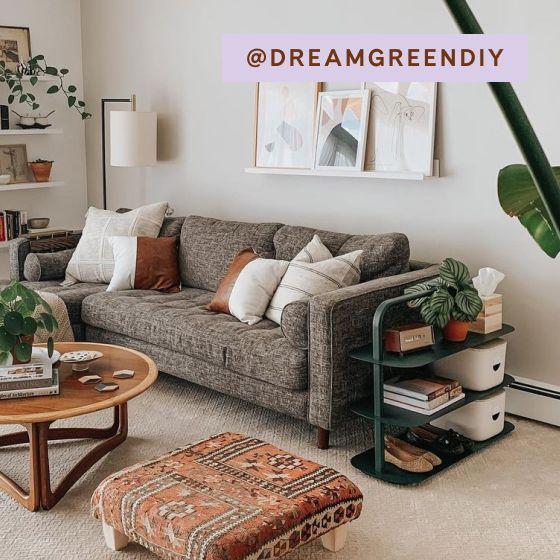 Image for [No Product Link] UGC - @dreamgreendiy - Entryway Rack - Dark Green