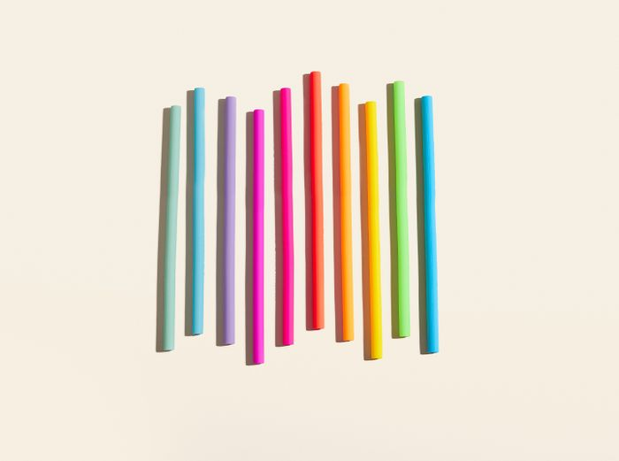 Image for Silicone Straw 10-Pack - Rainbow Set / 10-Pack