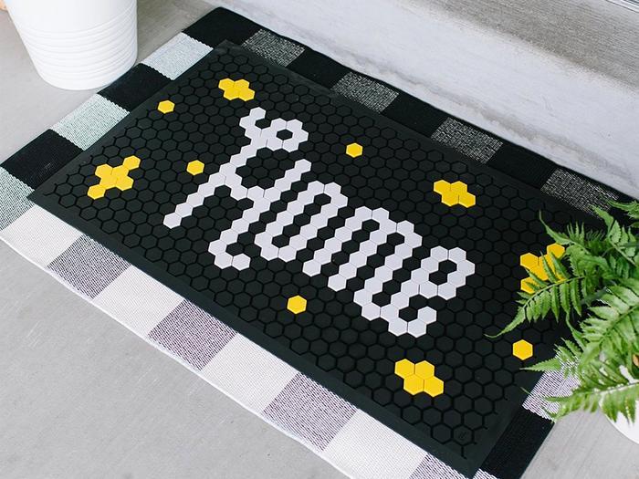 Letterfolk black tile mat