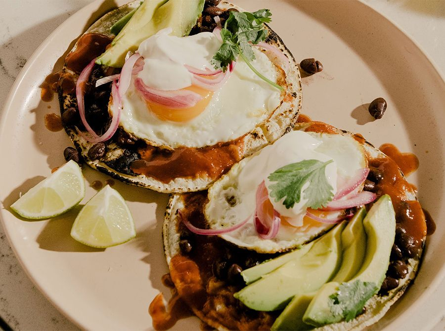 Image for Huevos Rancheros with Avocado & Pickled Red Onions