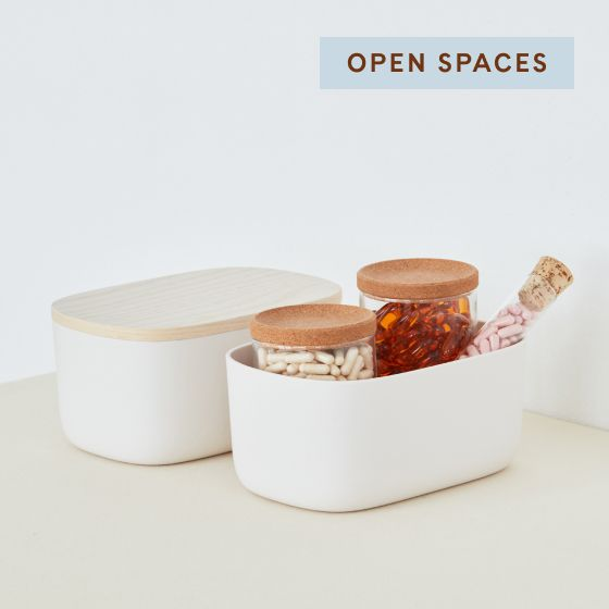 Image for Product Thumbnail - Small Storage Bins - Cream