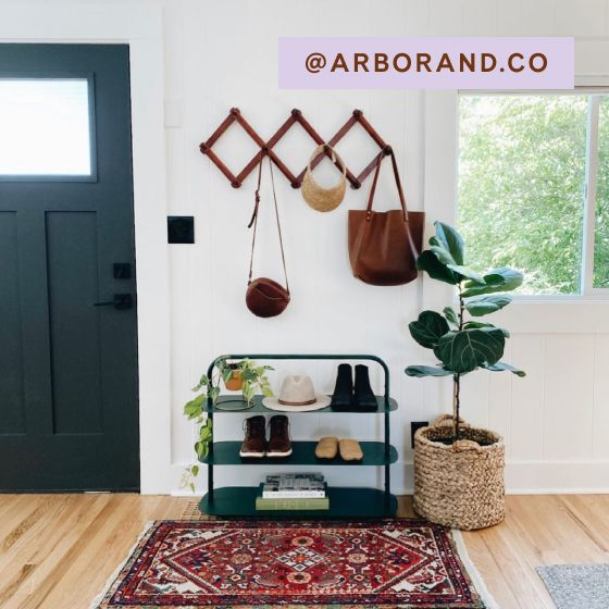 Image for [No Product Link] UGC - @arborand.co - Entryway Rack - Dark Green