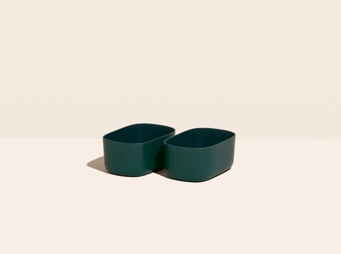 Image for Small Storage Bins - Set of 2 - No Lids / Dark Green