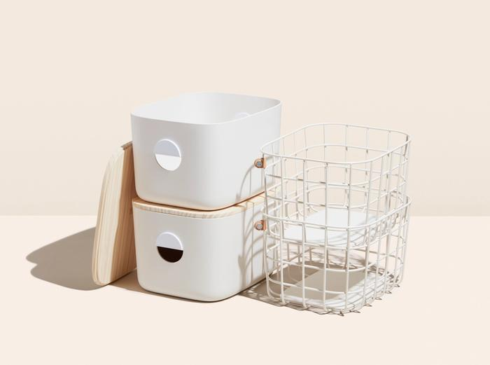 Image for Medium Bins & Baskets Bundle - Cream