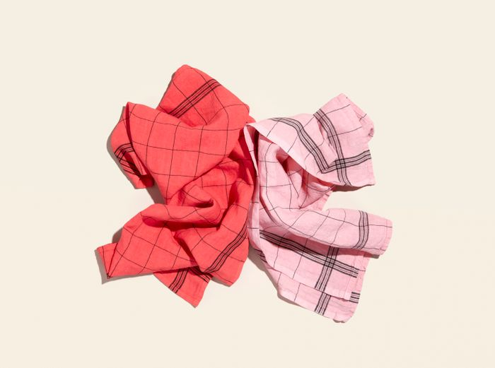 Hover Image for Tea Towels - Set of 2 - Red / Pink