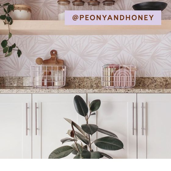 Image for UGC - @peonyandhoney - Medium Wire Baskets - Cream