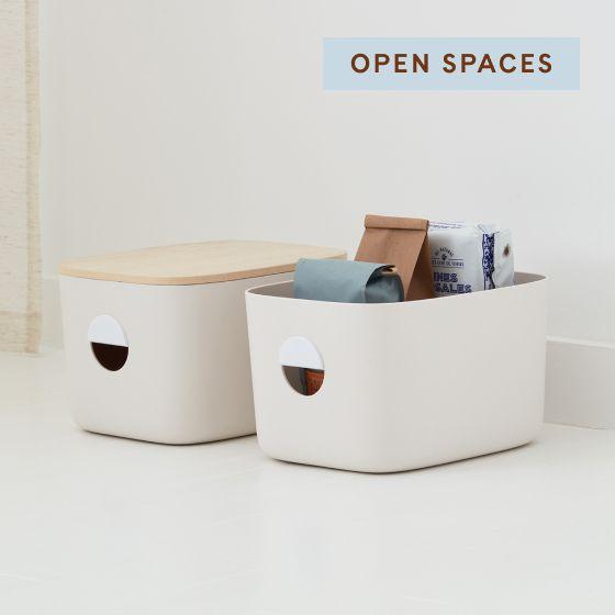 Image for Product Thumbnail - Medium Storage Bins - Cream