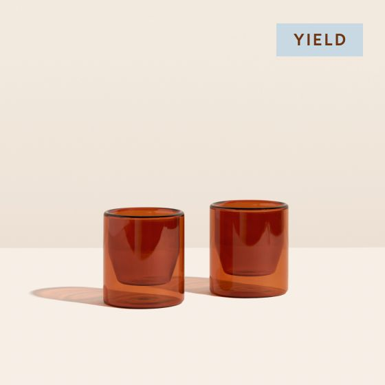 Image for Product Thumbnail - Double Wall Glasses - Amber