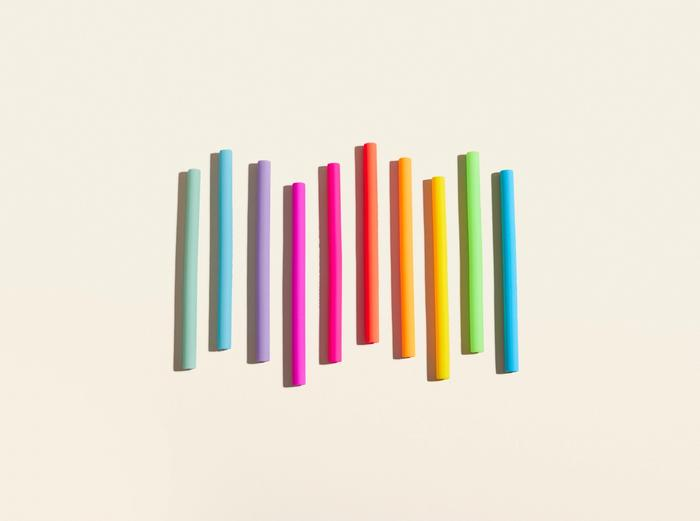 Image for Cocktail Silicone Straw - Glow / 10-Pack