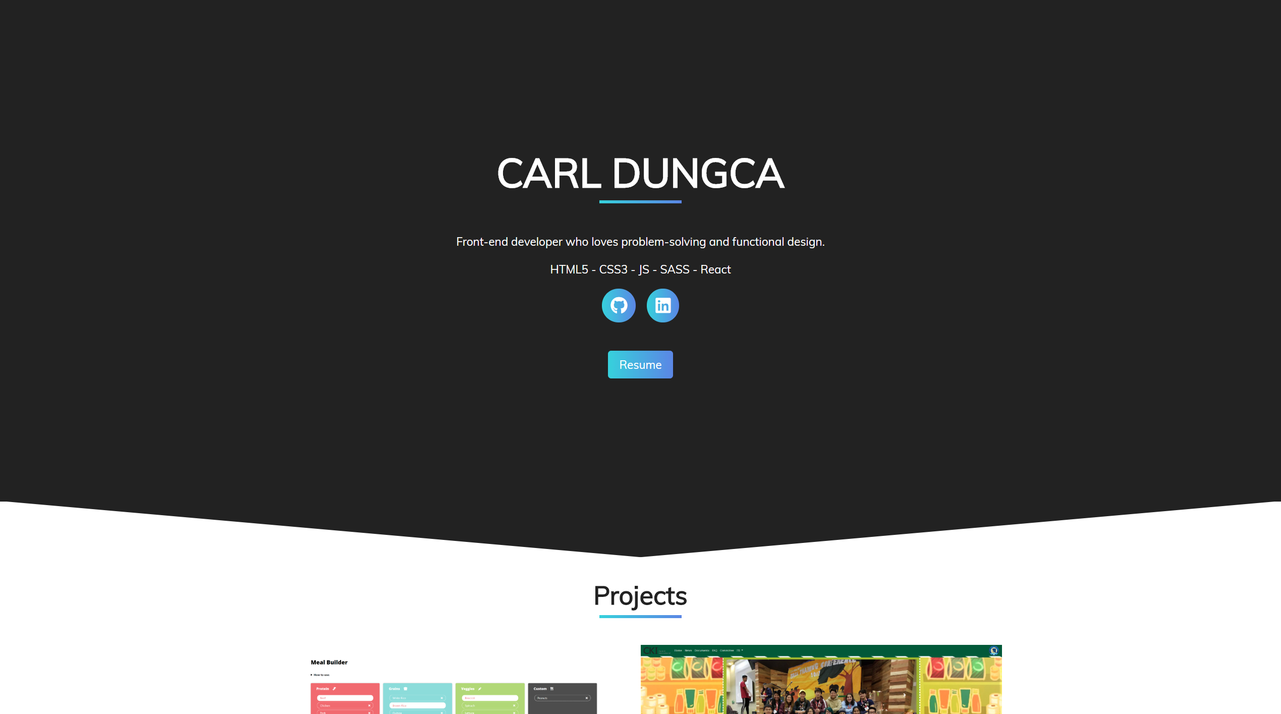 image of Portfolio Website