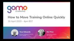 How to move training online quickly Read more