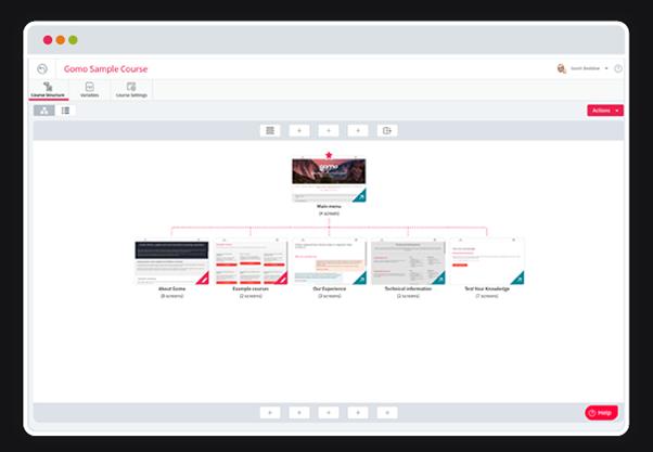 Gomo UI course details screenshots
