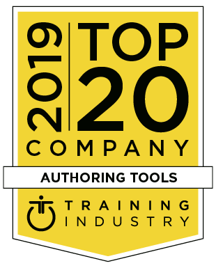 Training Industry 2019 Top 20 Authoring Tools badge