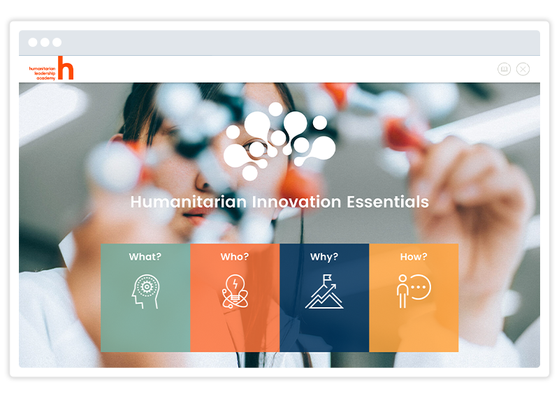 eLearning course screenshot by Humanitarian Leadership Academy. Built using Gomo's eLearning authoring tool