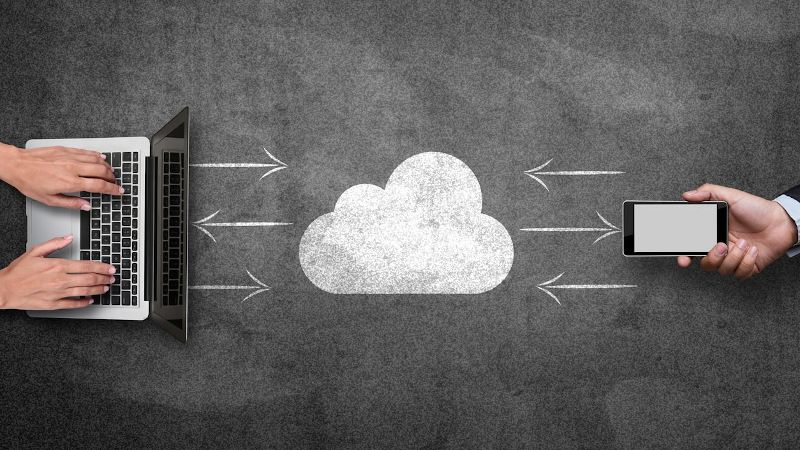 A photo of a drawing of a cloud on a chalkboard as part of a customizable authoring tool called Gomo