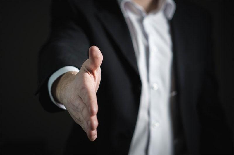 Sales handshake visual