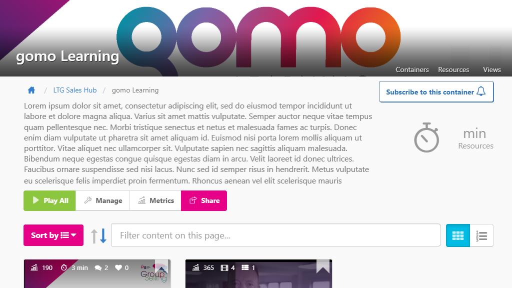 Gomo Academy mockup screenshot