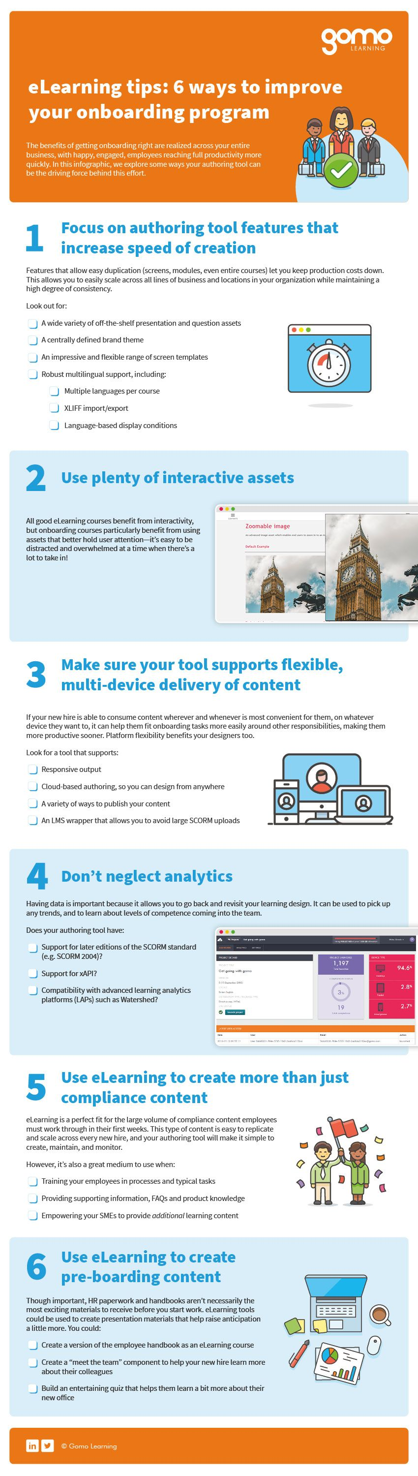 Full-size version of 6 wars to improve your onboarding program infographic