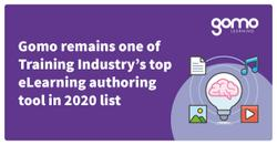 Gomo remains one of Training Industry's top eLearning authoring tool in 2020 list Read more