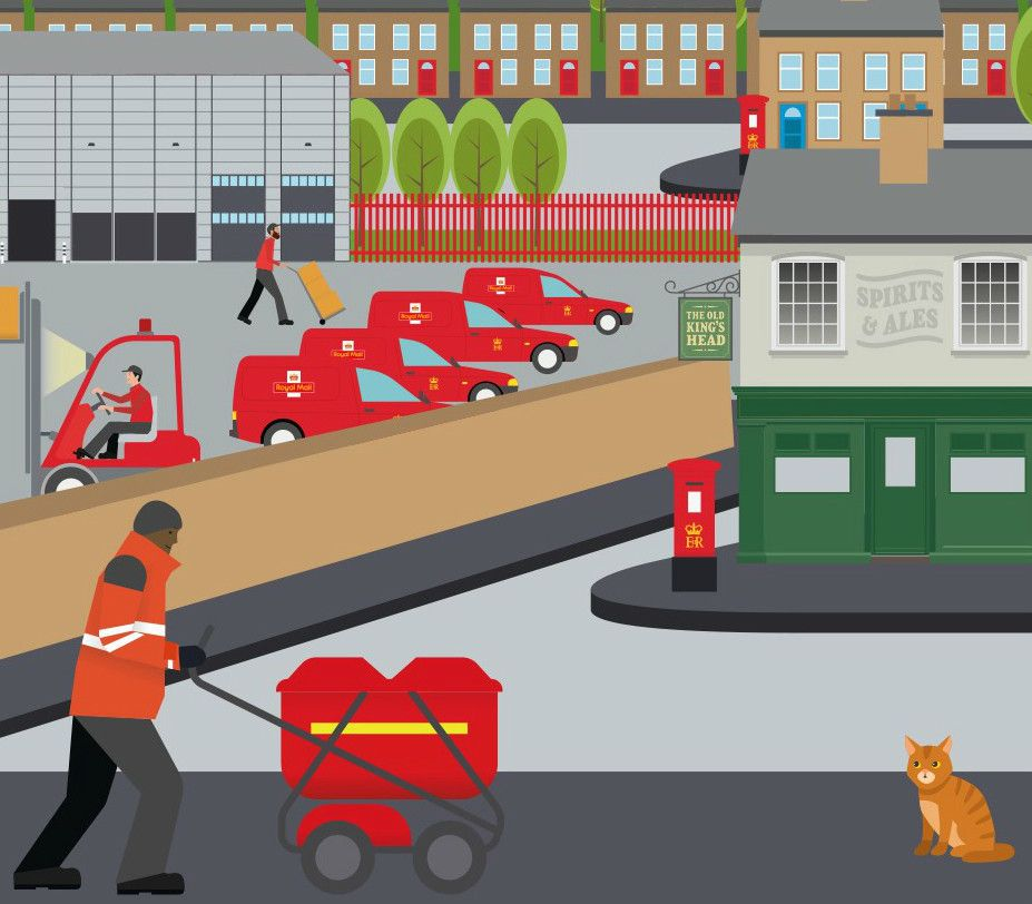 A screenshot of imagery used in Royal Mail's Knowing the Business enterprise learning
