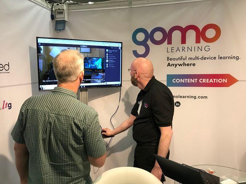 Huw Edwards demonstrates Gomo at LTSF 2019