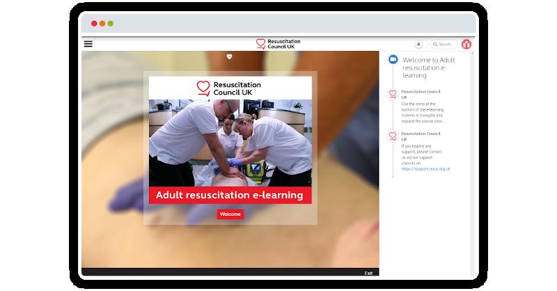 Resuscitation Council UK Gomo-authored Instilled-delivered eLearning course