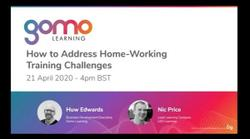 How to address home-working training challenges Read more