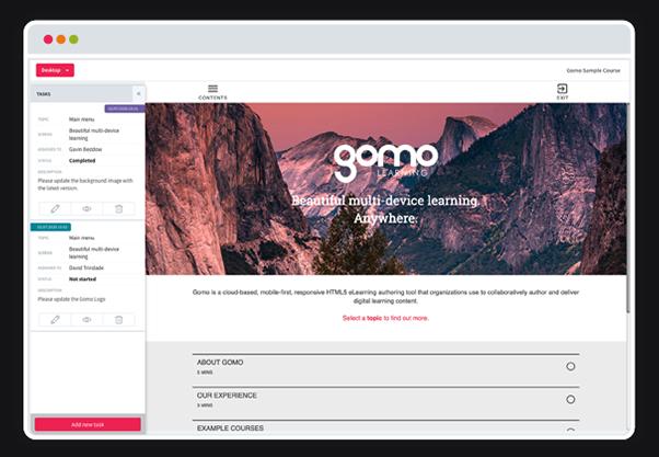 Gomo 2020 UI Refresh - course preview
