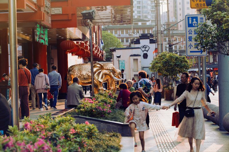 Image of a street in China