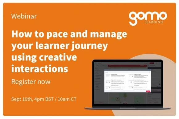 Webinar: How to Pace and Manage Your Learner Journey Using Creative Interactions Read more