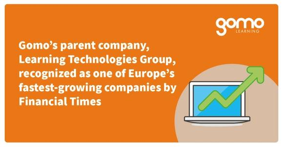 Gomo's parent company, Learning Technologies Group, recognized as one of Europe's fastest-growing companies by Financial Times Read more