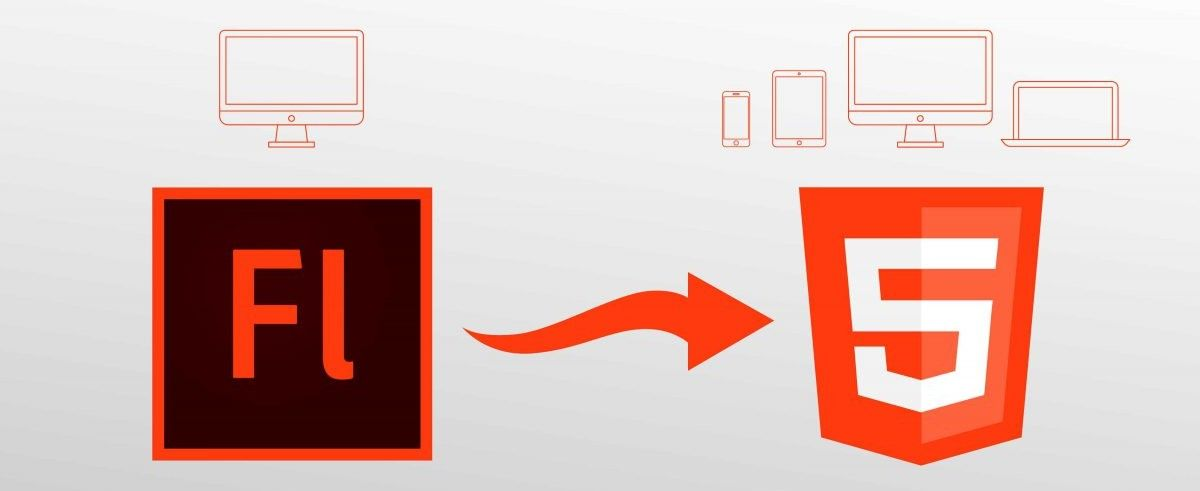 Flash to HTML5 diagram