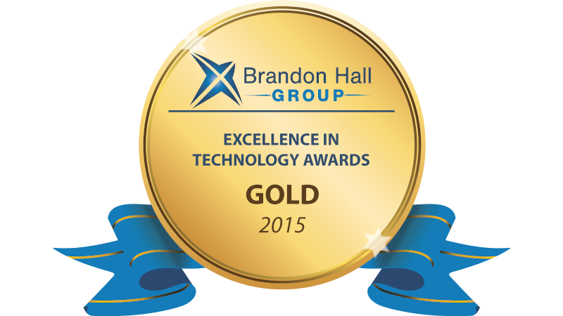 Brandon Hall 2015 Gold Award for Excellence in Technology for Gomo Learning