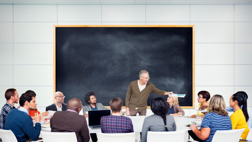 Classroom image illustrating the value of eLearning