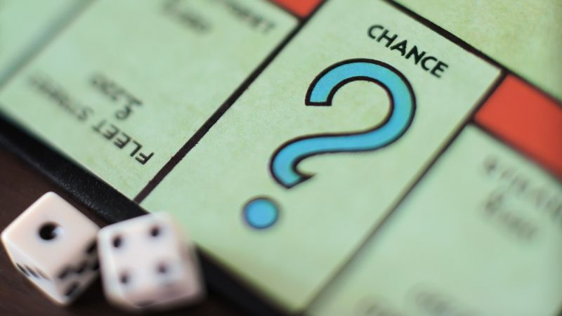 The Monopoly Chance section represents Gomo's question banks and randomization