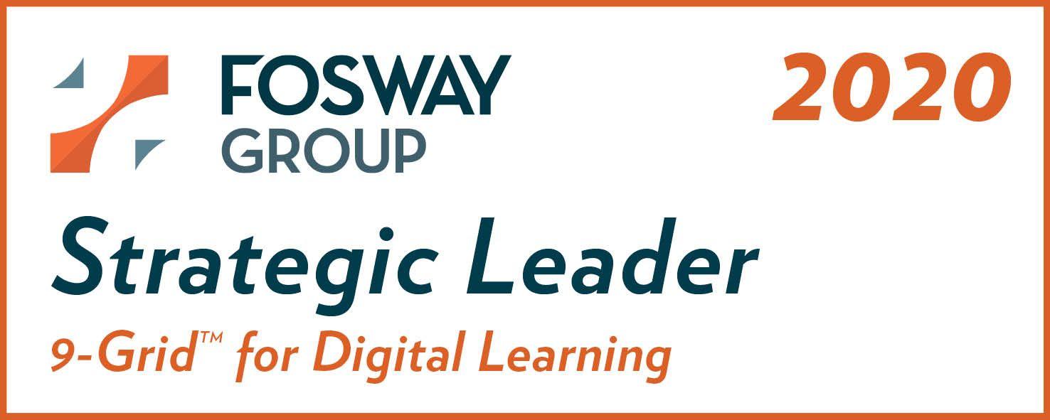 Fosway Strategic Leader 9-Grid for Digital Learning 2020 badge