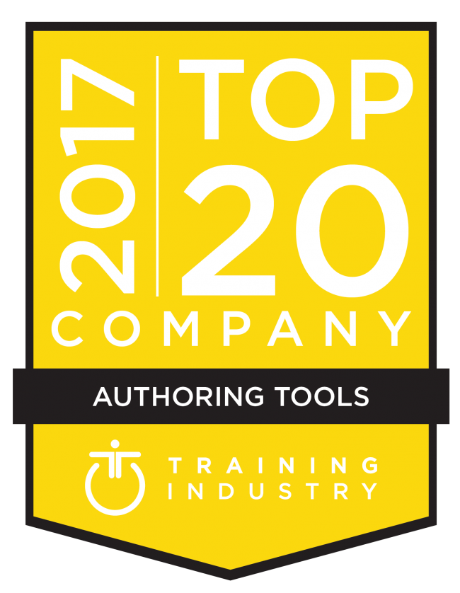 Gomo is proud to be featured on Training Industry's 2017 list of 20 top authoring tools