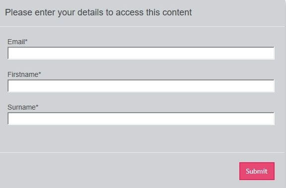 A screenshot showing how people who carry out eLearning courses can fill out a short form in order to be identified for xAPI tracking purposes