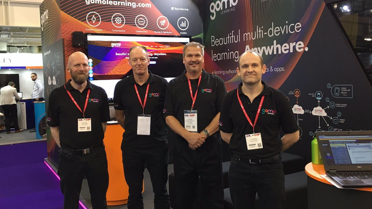Gomo team at stand for LT 2017
