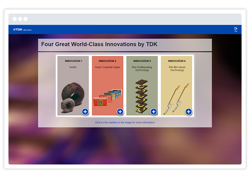 Great eLearning examples - a TDK screenshot for a Gomo eLearning course