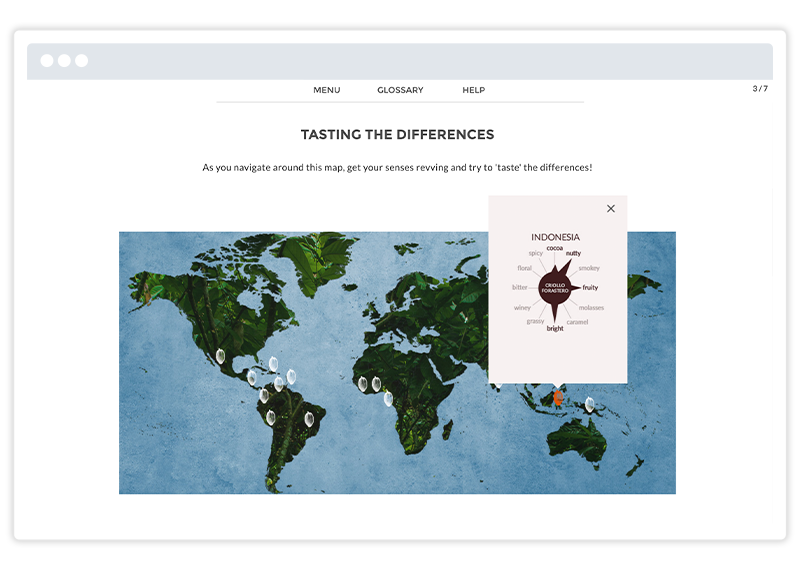 Godiva eLearning course screenshot built using Gomo's authoring tool