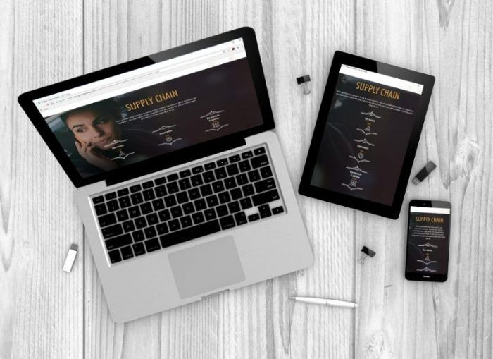 Responsive design on laptop, tablet and phone