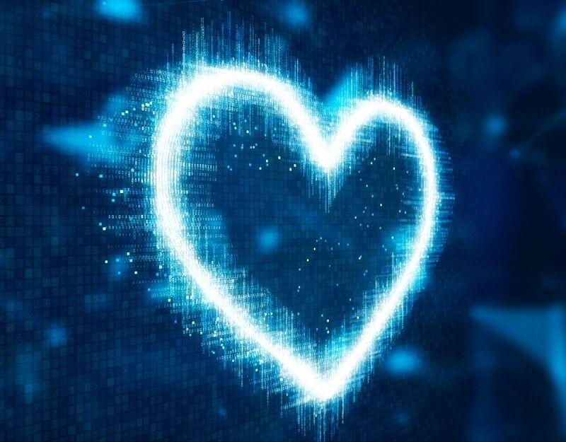 Computer love illustration