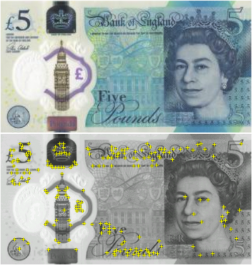 AR in learning £5 note