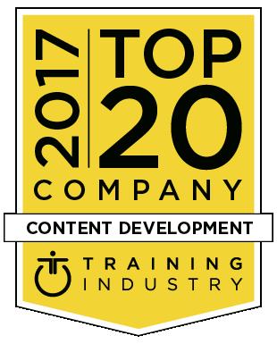 20 Top 2017 content development award logo